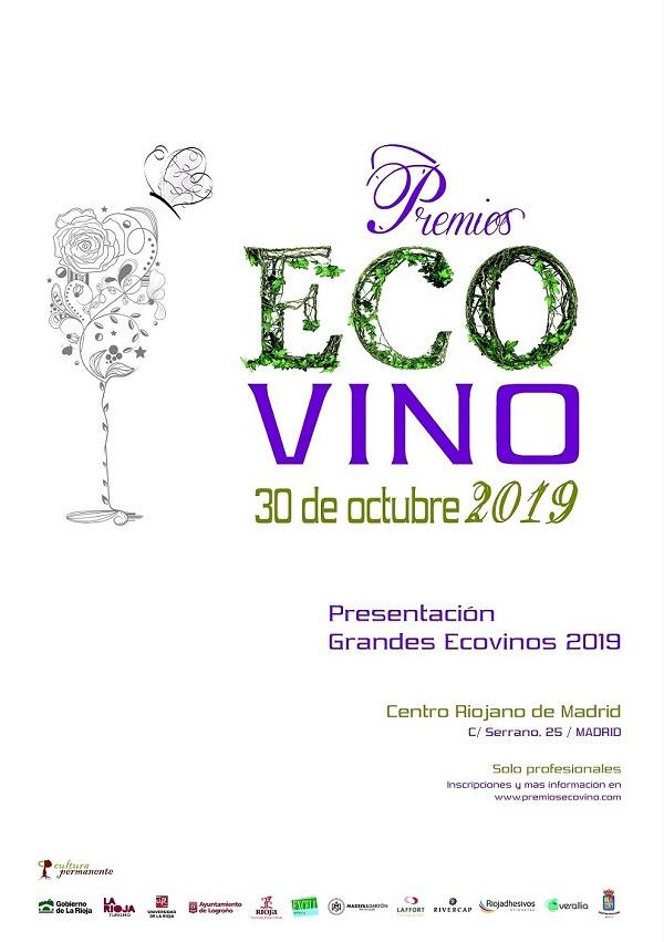 Cartel evento Ecovino en el Centro Riojano de Madrid