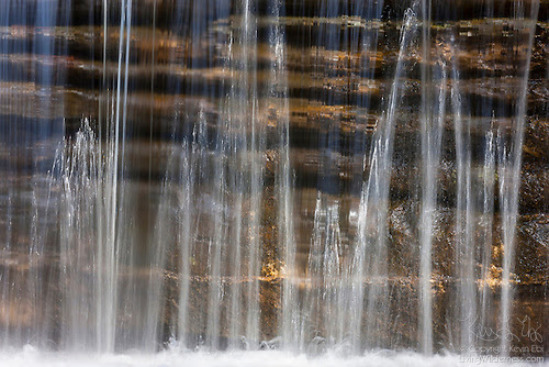 Waterfall over Sandstone Layers, Matthiessen State Park, Illinois