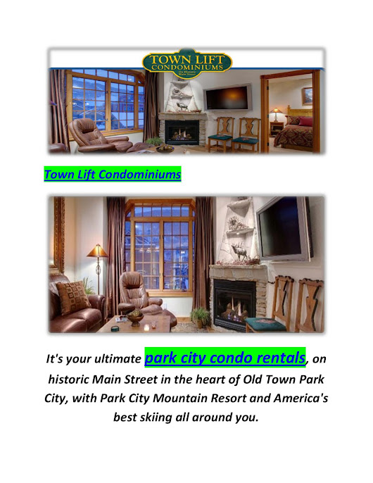 Town Lift Condominiums : Condos in Park City, UT