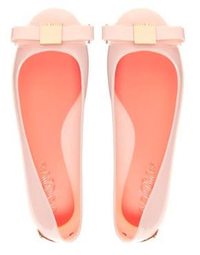 Immagine 4 di Ted Baker - Escinta - Scarpe piatte in gomma con fiocco rosa