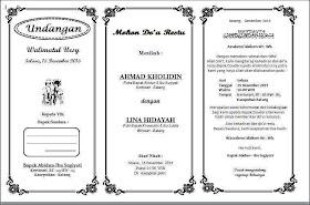 Contoh Undangan Akad Nikah Islami