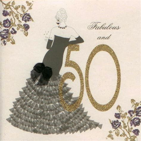 MojoLondon: Age 50 and Fabulous Birthday Card by Five