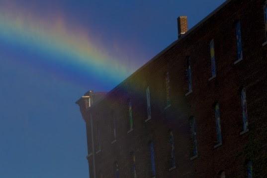michael jones mckean, the rainbow project, artificial rainbow, rainwater, solar power, bemis center, eco art