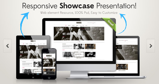 Responsive Showcase Psd | Psd Web Elements | Pixeden