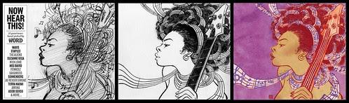 Now Hear This (drawing, sketch and final) - Yuko Shimizu