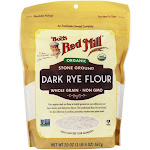 Bob's Red Mill Organic Dark Rye Flour Whole Grain Stone Ground 20 oz.