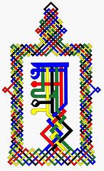 Arapacana Mantra monogram and eternal knot by jayarava