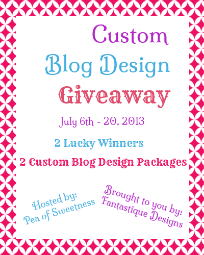 custom blog design giveaway