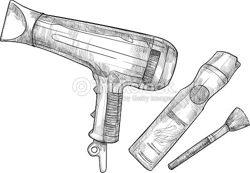 手描きベクトルイラストヘアスタイリスト Tools の理髪 ベクトルアート