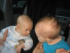 This is Cambria's friend Levi, they had a fun few moments of just staring at each other