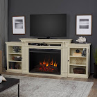 Real Flame Tracey Grand Electric Fireplace Entertainment Center, Distressed White