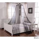 Oasis Round Hoop Sheer Bed Canopy, Black