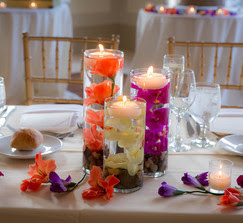 Real Weddings And Wedding Inspiration Ideas Flower Filled Cylinder