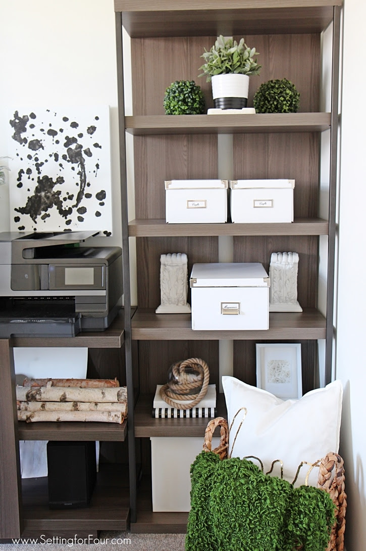 Home Office Furniture Ideas with Storage - Setting for Four