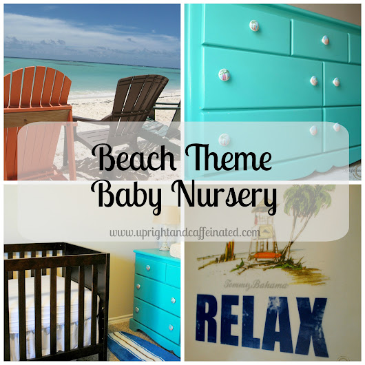 Beach Theme Baby Nursery: Surf-Inspired - Upright and Caffeinated