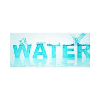 Water words gallery wrapped canvas