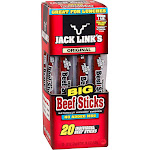 Jack Link's Big Beef Jerky Stick, Original, 0.92 oz, 20-Count