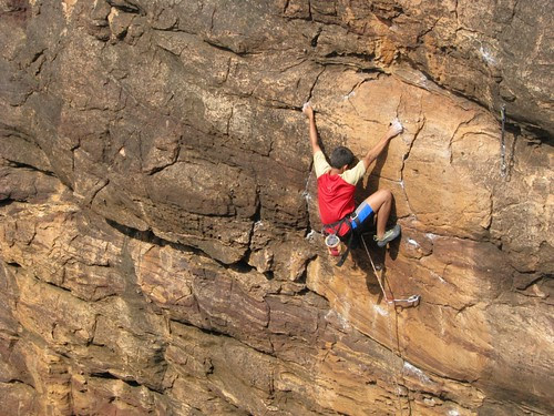 Badami Rock Climbing Nishant