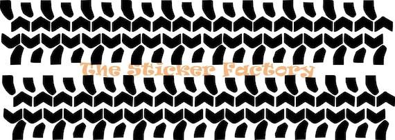 Off Road Tire Tracks Tread Vinyl Decal Wall Art Decor Stickers