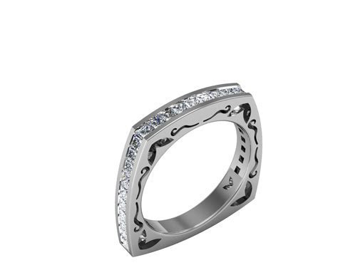 Square Band Diamond Rings   Wedding, Promise, Diamond