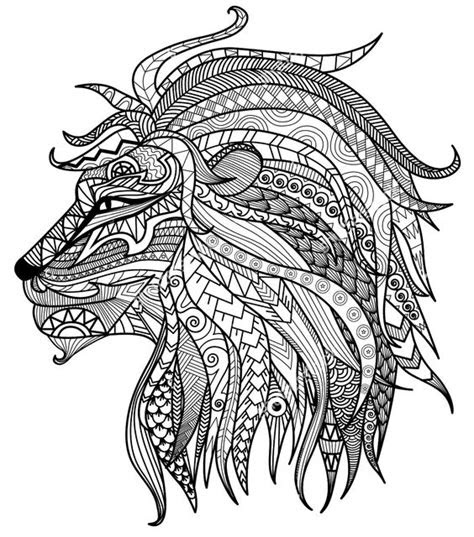 adult coloring pages lion head adult coloring pages
