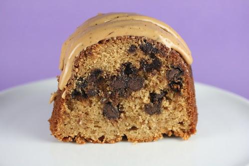 Brown Sugar and Chocolate Chip Bundt with Maple-Espresso Glaze - I Like Big Bundts