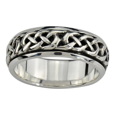 Peter Stone Jewelry Celtic Spinner Rings in Sterling