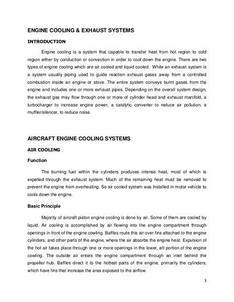 Report of Engine Cooling & Exhaust System