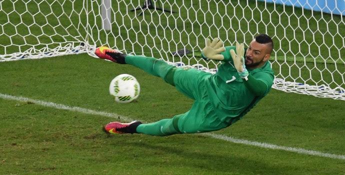 Weverton Brasil Alemanha futebol masculino Olimpíada Rio 2016 (Foto: AFP)