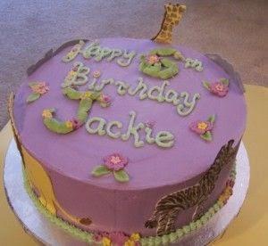 Birthday Cake Happy Birthday Jackie Cake