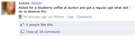 Blueberry coffee 25 Pictures of The Most Comfortably Uncomfortable First World Problems