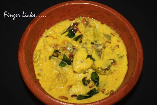 Neymeen Thengapal curry/Coconut milk Fish Curry - Tastes of Malabar