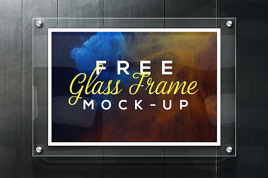 Realistic Glass Frame Mockup Free PSD Download - Download PSD
