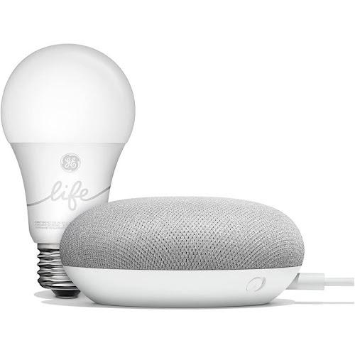 Google Smart Light Starter Kit with Google Assistant - Gray/White