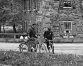 Pierce Mill & Bicycle, Motorcycle (detail)