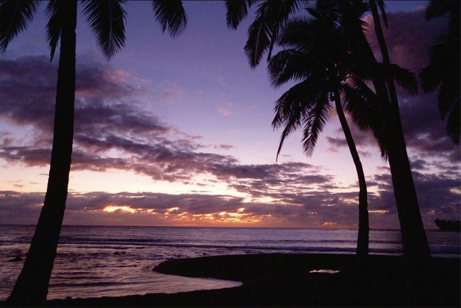Marion Matter. 6 h 8. Premier rayon de soleil sur le territoire français. Futuna, Océanie polynésienne.