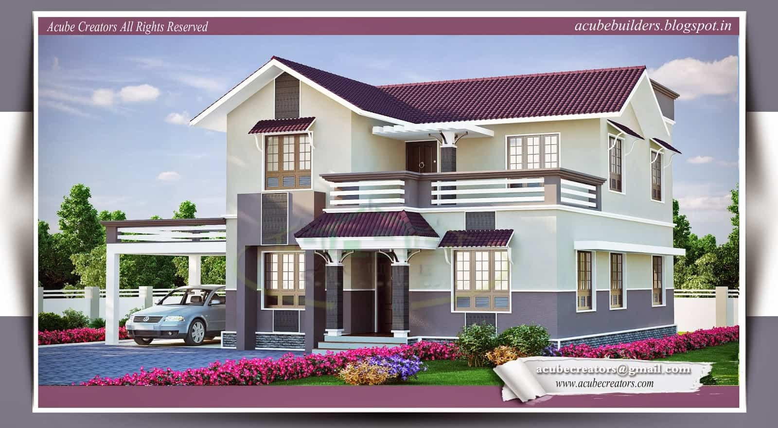 Beautiful Kerala Home Plans At 2015 Sqft