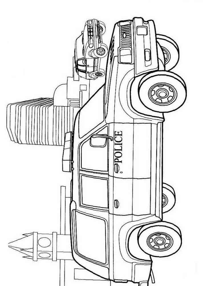 police car coloring pages 10