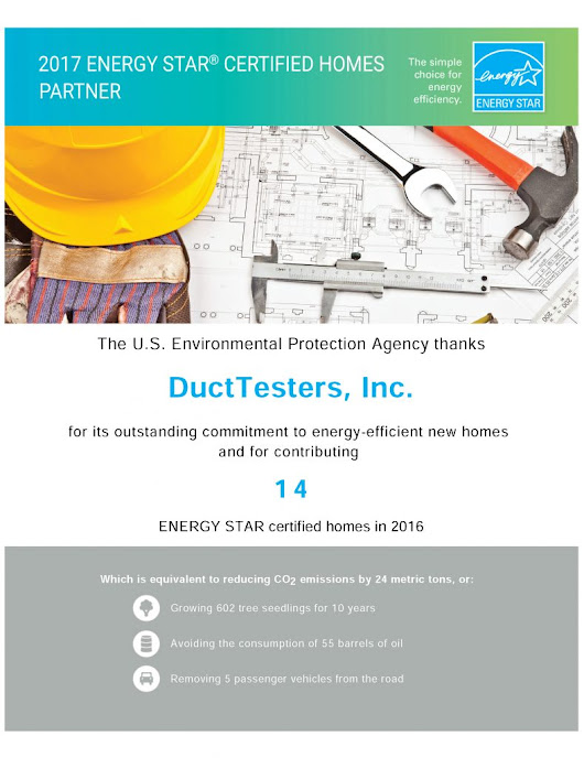 U.S. EPA Thanks DuctTesters Again for ENERGY STAR Homes – DUCTTESTERS, INC.
