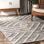 Cragston 5 ft. x 8 ft. Natural Diamond Texture Rug - RugsUSA | 200SECF01A-508