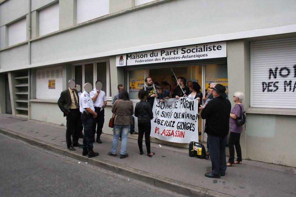 Arrestations à Pau pour Georges Abdallah !