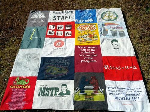 T-shirt quilt (hubs side)