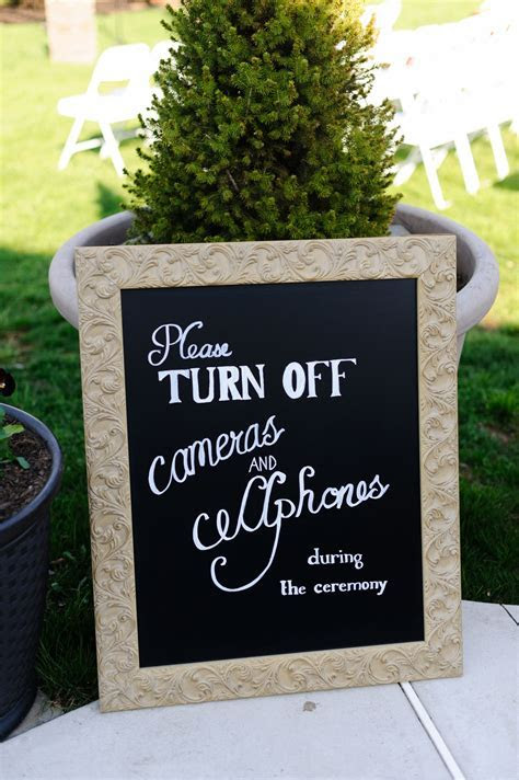 unplugged wedding sign   no cameras   Events   Unplugged