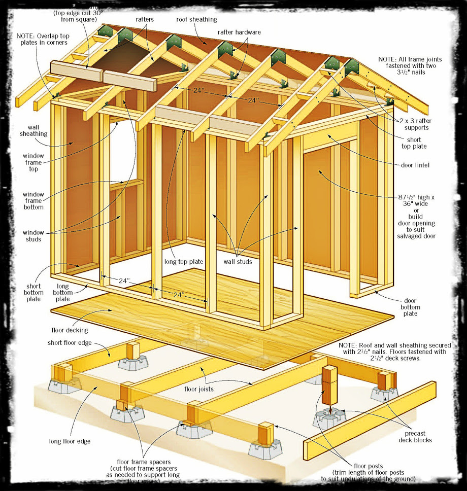 wood shed plans 6 x 8 newshed plans