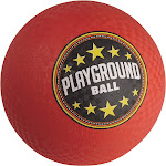 """Franklin Sports Inflated Playground Ball, Red, 8.5"""""""