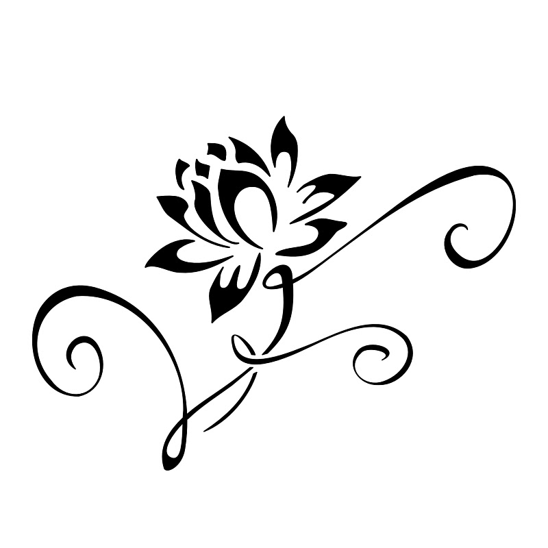 Lotus Flower Outline Free Download Best Lotus Flower Outline On