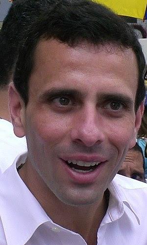 English: Henrique Capriles Radonski, during a ...