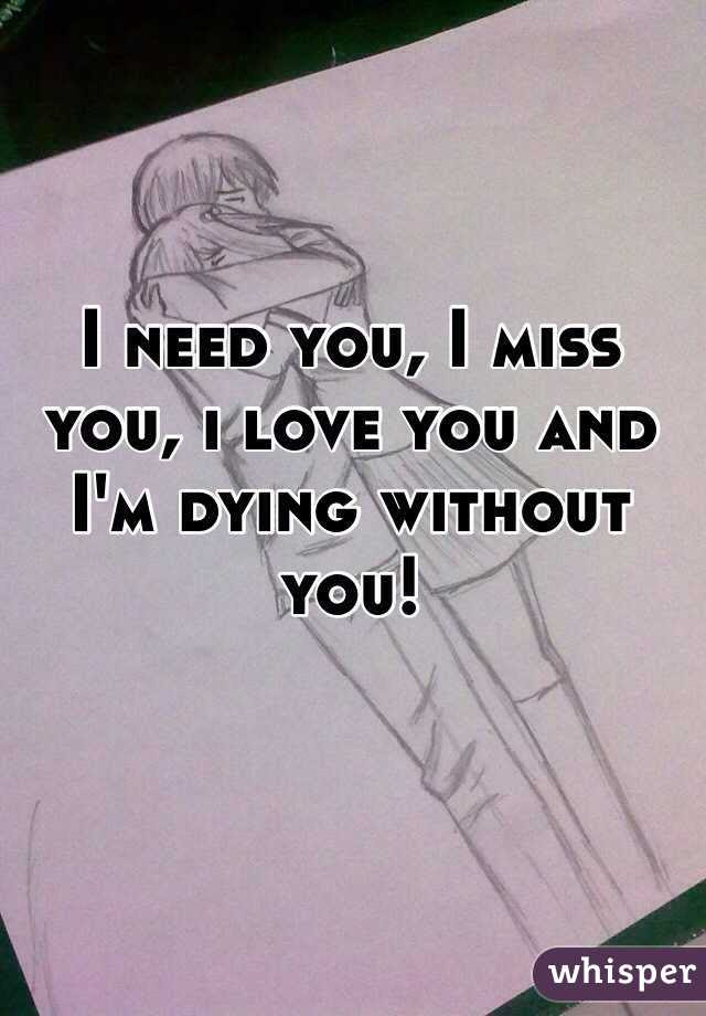 I Need You I Miss You I Love You And Im Dying Without You