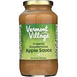 Vermont Village Organic Applesauce - Unsweetened - Case Of 6 - 24 Oz.