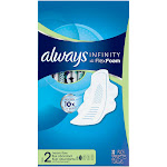 Always Infinity Heavy Flow Pads with Wings, Size 2 - 32 count
